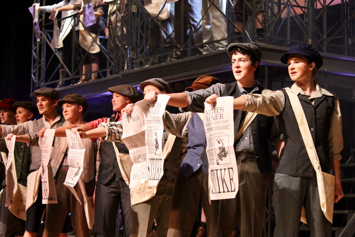 Scrappy newsboys take the stage in EHS' production of Newsies.