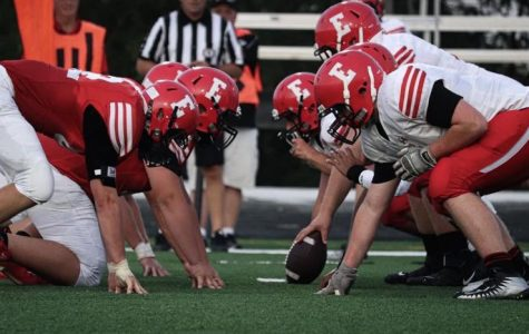 Red White Football Scrimmage