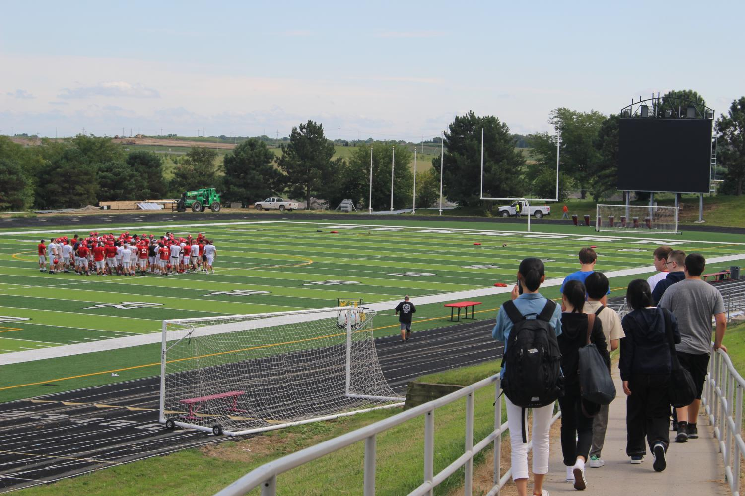 Japanese+students+toured+the+new+Antler+field.+Many+Japanese+schools+do+not+have+separate+fields+for+sports.