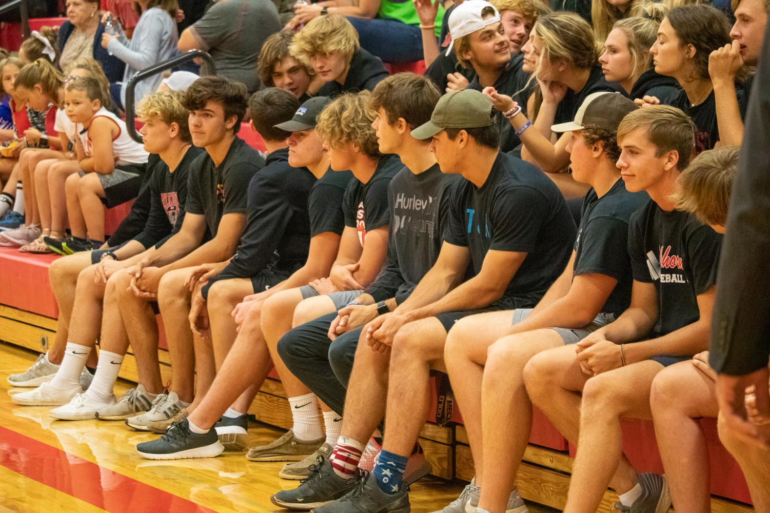 Elkhorn+seniors+and+the+rest+of+the+student+section+paying+close+attention+to+girls.