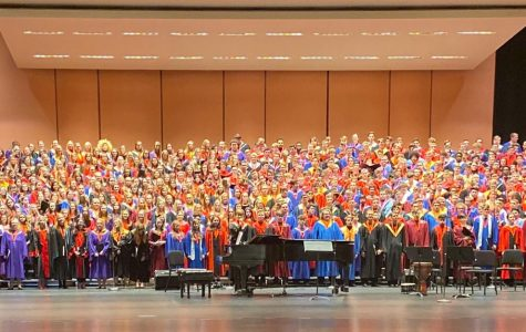 440 of the Nebraska All State Choir students in the Lied Center at UNL