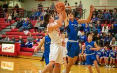 Junior Colton  Uhing going up for a 2 pointer.