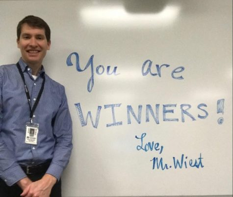 Science teacher Edwin Wiest sends his message to the class of 2020. Wiest was one of many staff members sending congratulations to the senior class.