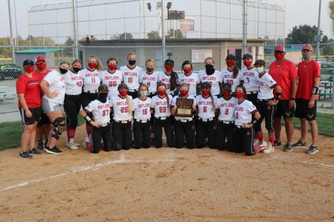 EHS softball team last Friday after their game at Blair.
