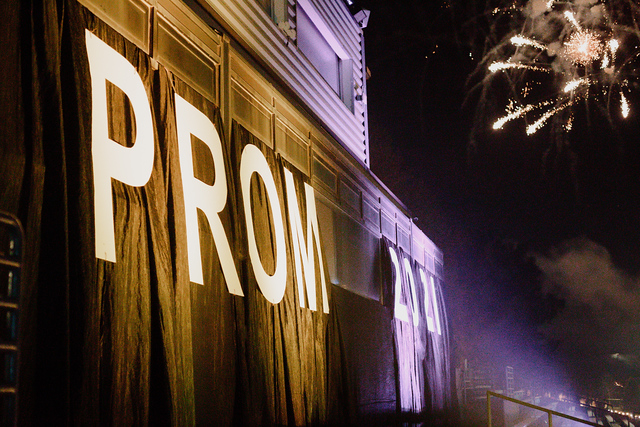 Fireworks light up the night as the 2021 Prom comes to an end.