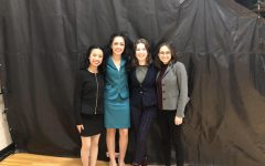 Four seniors at the state speech competition. (Left to right, Kayli Pham, Hailey Cheek, Hailey Sant, Ava DeLaGarza)