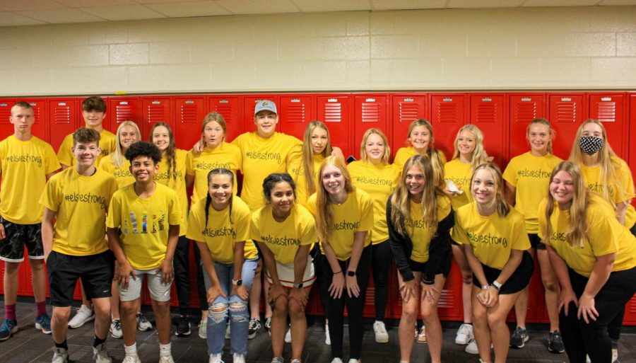 Students wore yellow shirts on Friday with the hashtag Elsie Strong.